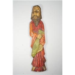 A Carved Hardwood Biblical Figure.