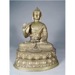 An Asian Brass Buddha, 20th Century.