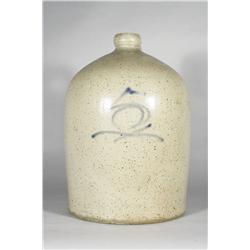 A 5 Gallon Stoneware Jug with Cobalt Glaze Number.