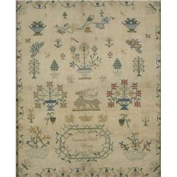 An Embroidered Sampler, dated 1813, by Susannah Bull,