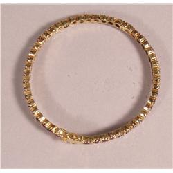 A Sterling Silver Gold Vermeil and Garnet Bracelet,