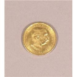 1912 Austrian 10 Corona Gold Coin.