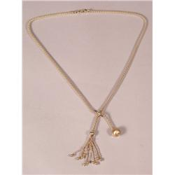 A 14 kt Yellow Gold Necklace,