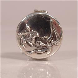 A Sterling Silver Flower Form Pill Box,