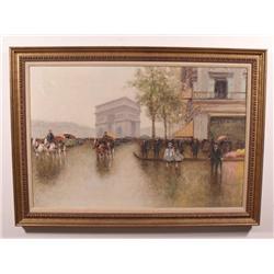 Andre Gisson (1928-2004, American) Arc de Triomphe, Oil on Canvas,