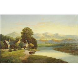 William P. Cartwright (1855-1915) Cymmer Abbey, Oil on Canvas,