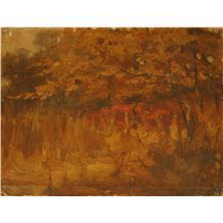 After John Singer Sargent (1856-1925, American) Salgomera Gardens, Frascan, Oil on canvas,