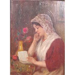 Artist Unknown (20th Century) Portrait of a Woman, Oil on Board.
