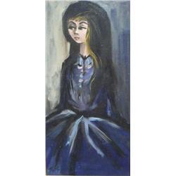 Zoe (20th Century) Portrait of a Woman, Oil on Canvas,