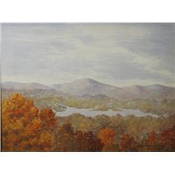S.E. Lunden (19th-20th Century) Lake Sunapee, N.H. 1923, Watercolor,