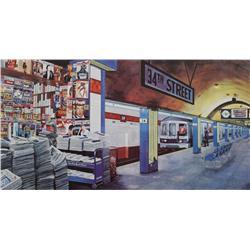 Ken Keeley (20th Century, American) 34th Street, Serigraph,