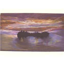 Jules Olitski (b. 1922) Luminous Dawn, Silkscreen,