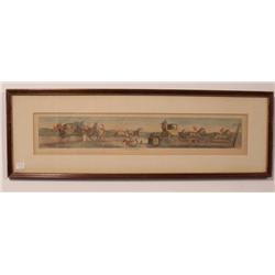A Collection of Three 19th Century English Equestrian Handcolored Engravings,
