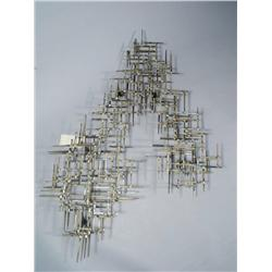 Artist Unknown (20th Century) A Brass and Steel Wall Sculpture,