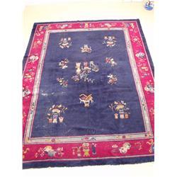 A Chinese Peking Wool Rug.