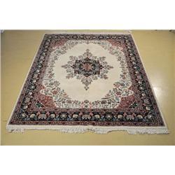An Indo Persian Kirman Wool Rug.