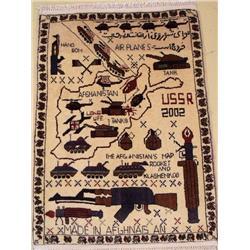 An Afghani War Wool Rug.