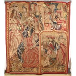 A Late 15th/Early 16th Century Franco-Flemish Gothic Biblical Tapestry Fragment,