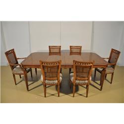 A Louis XV Style Mahogany Dining Room Set,