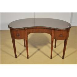A Sheridan Style Mahogany Kidney Form Desk,