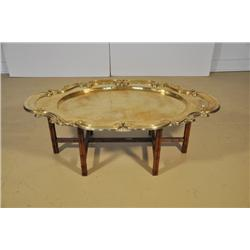 An Italian Faux Bamboo and Brass Low Table.