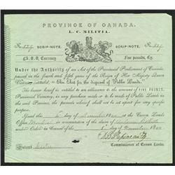 Lower Canada Militia Document