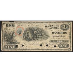 1873 Jewett And Pitcher $1