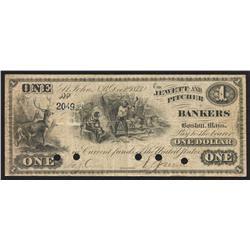 1873 Jewett And Pitcher $5