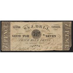 W & J Bell, 7 1/2 pence