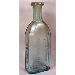 EARLY BURNETT'S COCOAINE BOTTLE - EMBOSSED - Marke