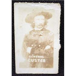 1948 TOPPS MAGIC PHOTO GENERAL CUSTER WILD WEST TR