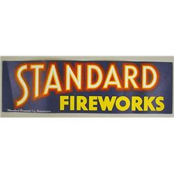 RARE EARLY STANDARD FIREWORKS PAPER ADVERTISING SI