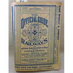 1957  THE OFFICIAL GUIDE OF THE RAILWAYS AND STEAM