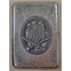 WW2 GERMAN NAZI CIGARETTE CASE - POSS. TRENCH ART