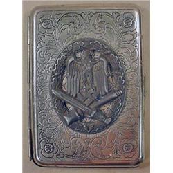 WW2 GERMAN NAZI CIGARETTE CASE - POSS. TRENCH ART