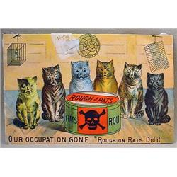 VICTORIAN TRADE CARD - WELLS RAT POISON - ROUGH ON