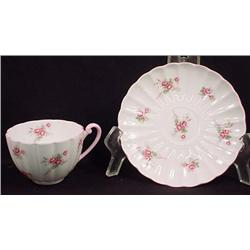 VINTAGE SHELLEY CHINA CUP AND SAUCER - BRIDAL ROSE