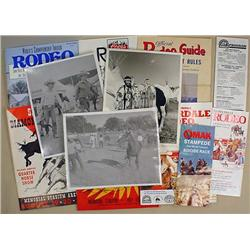 LOT OF VINTAGE RODEO EPHEMERA AND PHOTOS - Incl. 1