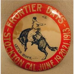 1913 STOCKTON, CA FRONTIER DAYS RODEO CELLULOID PI