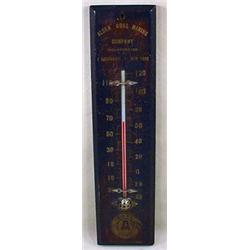 VINTAGE ALDEN COAL MINING ADVERTISING THERMOMETER