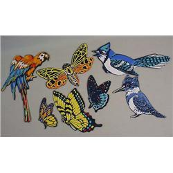 LOT OF VINTAGE BIRD AND BUTTERFLY DIE CUTS