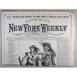 11-4-1872 NEW YORK WEEKLY NEWSPAPER - Incl. Story