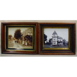 LOT OF 2 ANTIQUE FRAMES W/ PHOTOS - Both Frames ha