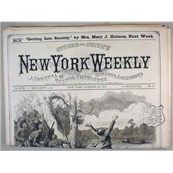 12-28-1872 NEW YORK WEEKLY NEWSPAPER - Incl. Story