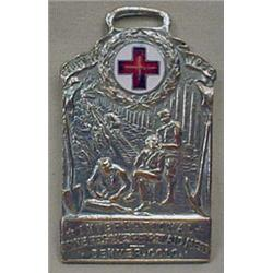 RARE 1920  MINE RESCUE AND FIRST AID WATCH FOB - F