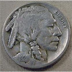 1921-S BUFFALO NICKEL - VG
