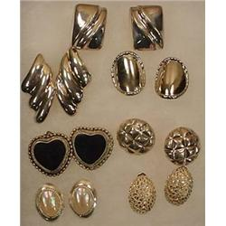 LOT OF 7 PAIRS OF STERLING SILVER EARRINGS