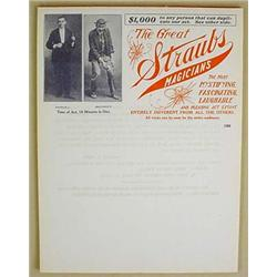 TABLET OF 33 C. 1908 MAGICIANS HANDBILLS / FLIERS