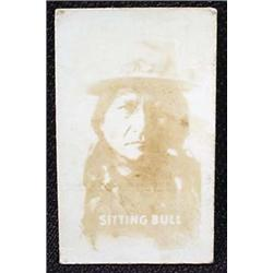 1948 TOPPS MAGIC PHOTO SITTING BULL WILD WEST TRAD