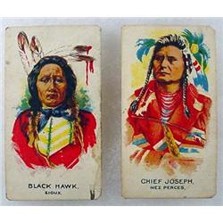 LOT OF 2 VINTAGE NATIVE AMERICAN TOBACCO CARDS - C